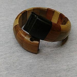 Vintage wooden puzzle bracelet
